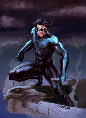 TheOfficialJLA Обои with Аниме titled NIGHTWING!!!!