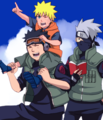 Naruto, Kakashi and Obito - kakashi photo