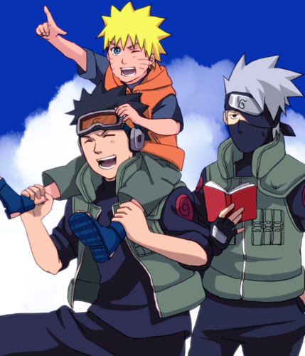 Naruto, Kakashi and Obito