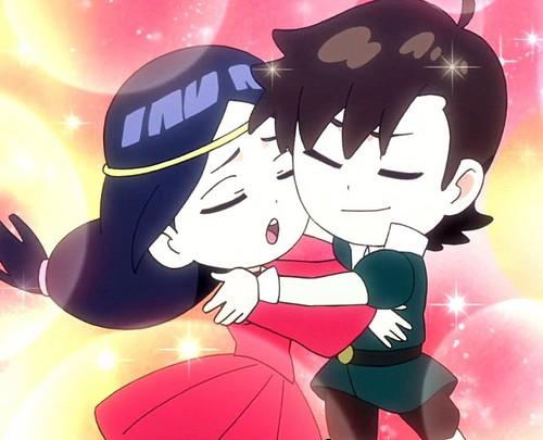Neji and Hinata in Naruto SD