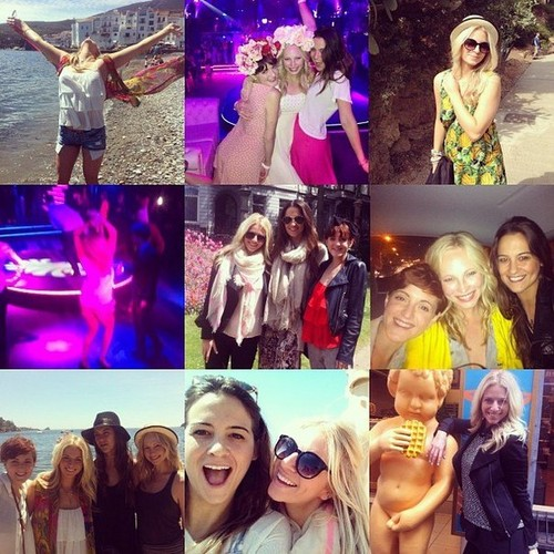 New personal photos: Candice's trip to Европа with Друзья [May 2013]