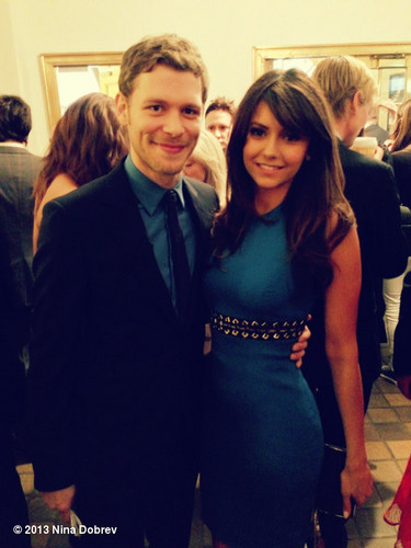 Nina Dobrev and Joseph морган at The CW's 2013 Upfront