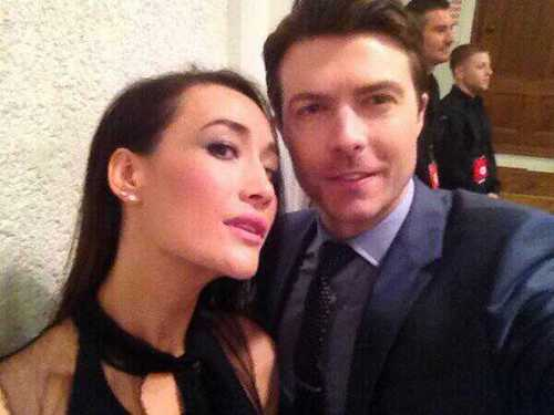 Noah শিম and Maggie Q CW Upfronts 2013