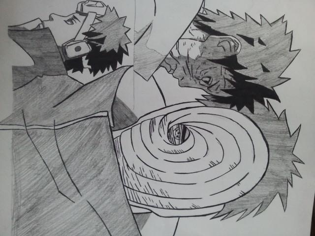 Zeichnung anime-Obito ...