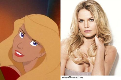 heroínas de filmes animados da infância wallpaper probably with a portrait called Odette's Celebrity Look Alike