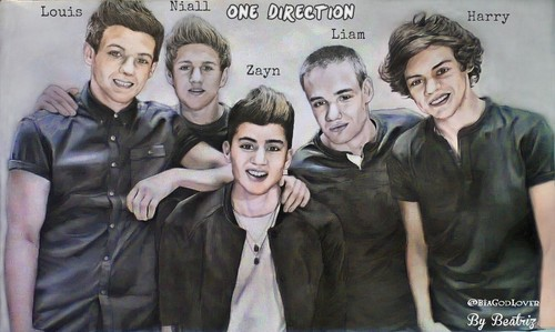 One Direction Drawing