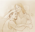 Pepperony: Fan Art - tony-stark-and-pepper-potts fan art