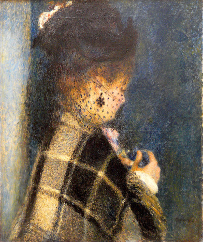 Pierre Auguste Renoir - Young Woman with a Veil, 1875-77