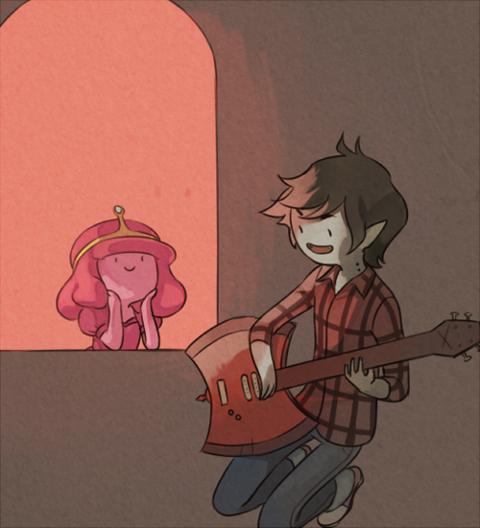 Princess Bubblegum and Marshall