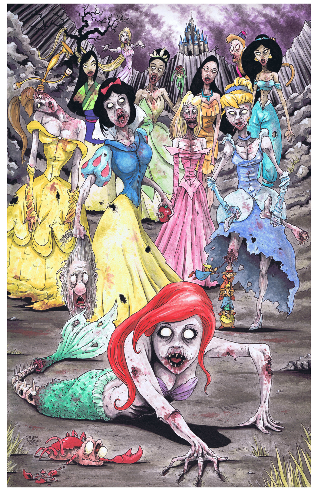 Disney Princess Princess Zombies      XO  OZombie Disney Princesses