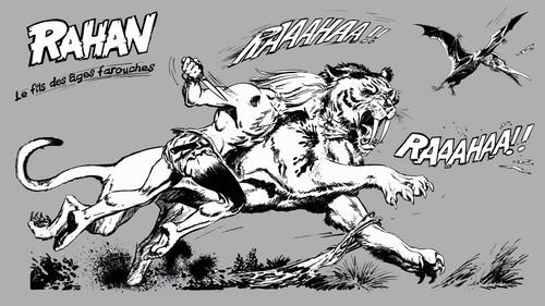 Rahan fighting a Gorak
