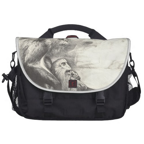 Rickshaw Commuter Laptop Bag With the Rhesus Monkeys