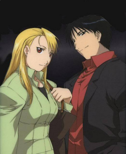 full metal alchemist couples wolpeyper possibly with anime called Roy & Riza