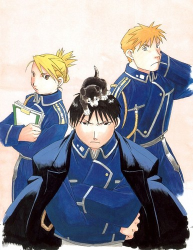 full metal alchemist couples wolpeyper with anime titled Roy & Riza