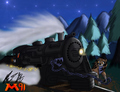 Run away Locomotive - alpha-and-omega fan art