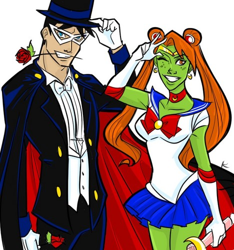 Sailor Martian and Super Tuxedo