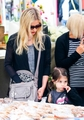 Sarah and Charlotte at a Farmers Market in LA (5th May 2013) - sarah-michelle-gellar photo