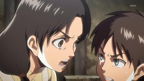 Shingeki no Kyojin (Attack on titan) karatasi la kupamba ukuta with anime titled Shingeki no Kyojin Episode 1 Screenshot