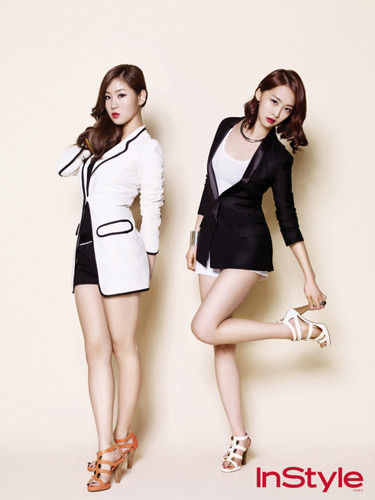 SISTAR (씨스타) wallpaper possibly with bare legs and a hip boot titled Sistar - 'Instyle'