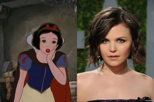Childhood Animated Movie Heroines پیپر وال titled Snow White's Celebrity Look Alike