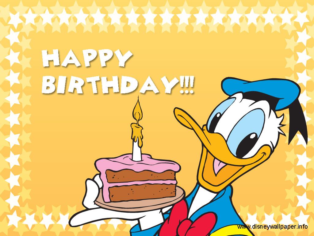 Дональд дак с днем рождения