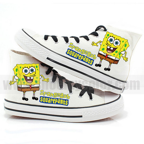 SpongeBob high parte superior, arriba hand painted shoes