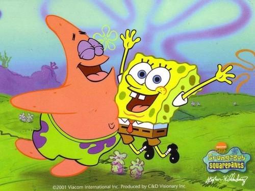 Spongebob Squarepants wallpaper containing anime titled Spongebob and Patrick