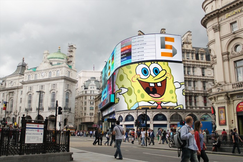 Spongebob on Piccadilly
