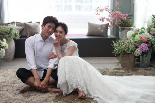 Taecyeon wedding photoshoot with Lee Yeon Hee