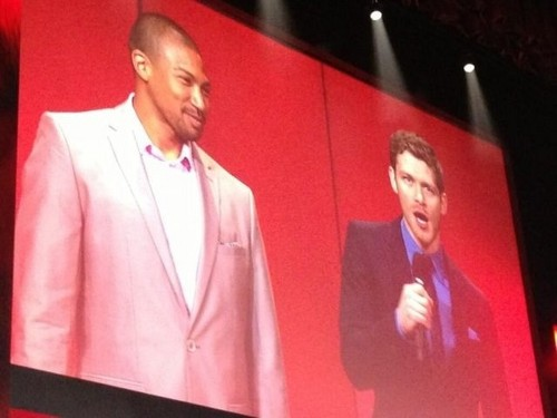 The CW's 2013 Upfront: Joseph morgan and Charles Michael Davis