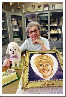 The Cake Lady Diana cake at Mini Cake Museum