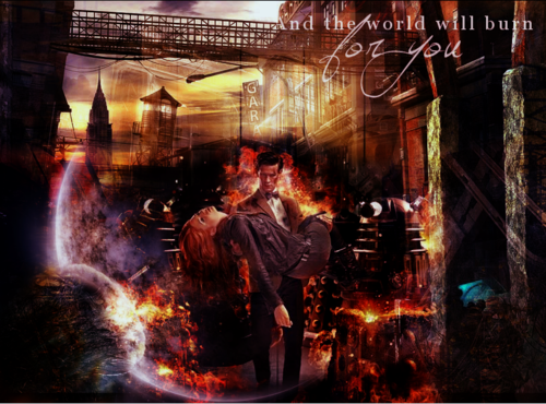 The Doctor and Amy Fanart