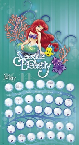 The Little Mermaid Calendar
