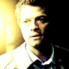 Castiel photo probably with a business suit and a portrait entitled The Song Remains the Same
