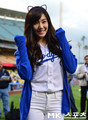 Tiffany Throws First Pitch for LA Dodgers