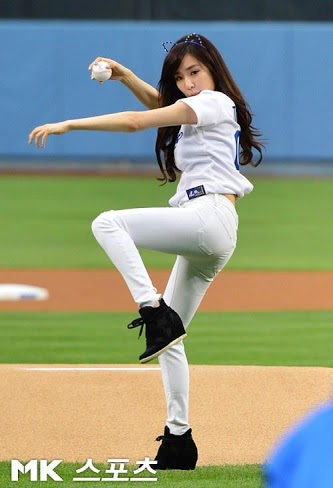 Girls Generation/SNSD wallpaper containing a first baseman, a pitcher, and a ballplayer titled Tiffany