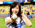 Tiffany's 1st pitch @ Dodger's Game - tiffany-girls-generation photo