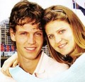 Tomas Berdych and Lucie Safarova - tennis photo