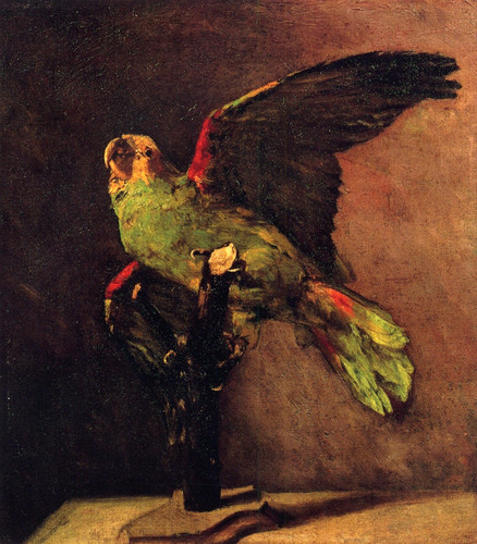 Vincent transporter, van Gogh - The Green Parrot, 1886
