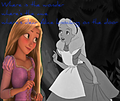 Where's dear Alice knocking on the door? - disney-crossover photo