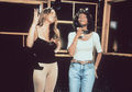 Whitney And Mariah In The Recording Studio - whitney-houston photo