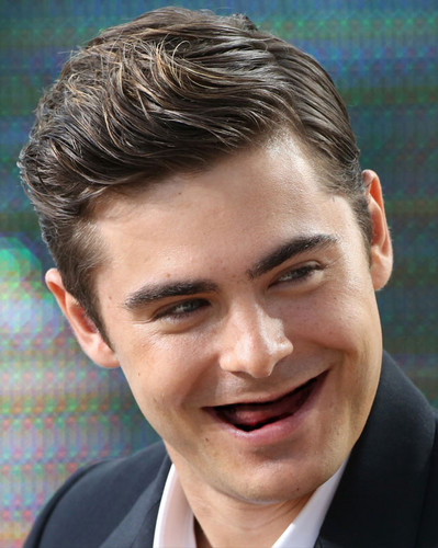 Zac Efron wallpaper containing a business suit entitled Zac Efron With No Teeth!