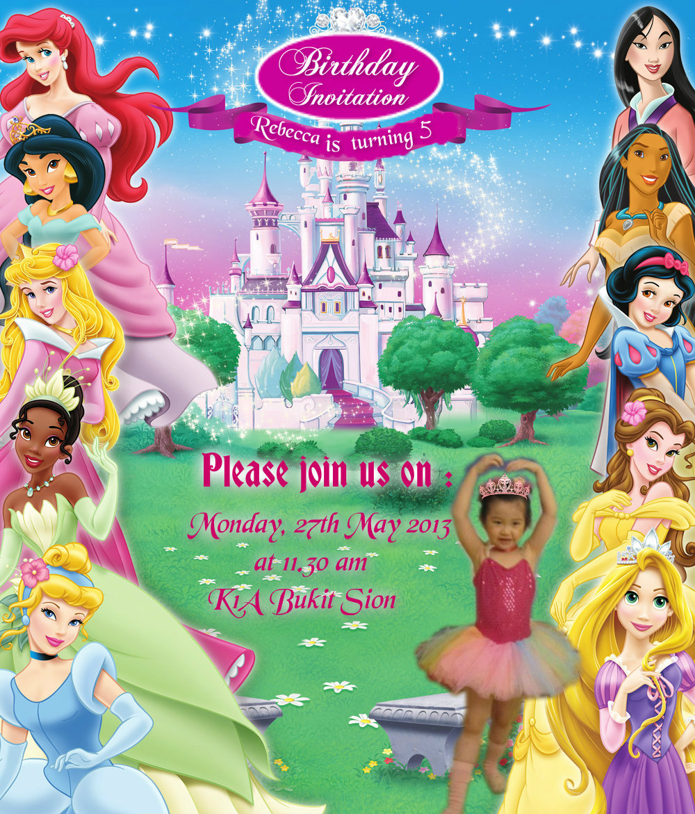 Disney Princess Party Invites is good invitations sample