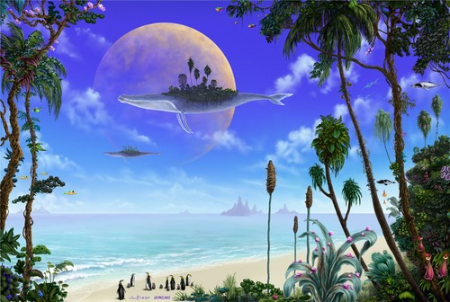 James Cameron's Avatar wallpaper probably with a resort and a rainbow entitled blue sky on Arimoon
