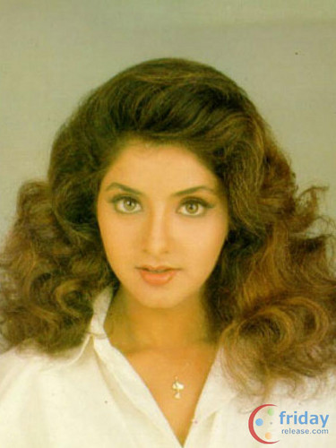 divya bharti پیپر وال containing a portrait titled divya