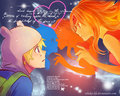 finn x flame princess - adventure-time-with-finn-and-jake wallpaper