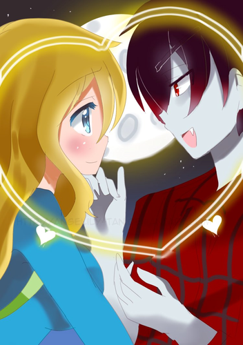 Fiolee (Fionna and Marshal Lee) wallpaper entitled fionna x marshall lee