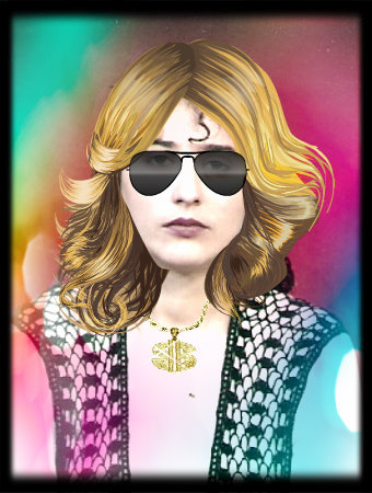 Mannequins দেওয়ালপত্র with sunglasses entitled gaga