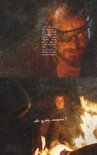 Beric Dondarrion & Arya Stark