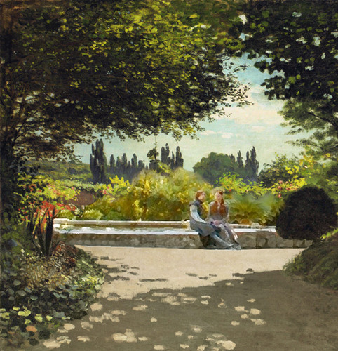 A Game of Art: Sansa & Loras + Monet's Чтение in the Garden